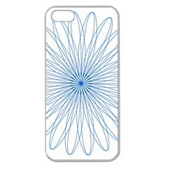 Spirograph Pattern Circle Design Apple Seamless Iphone 5 Case (clear)