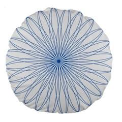 Spirograph Pattern Circle Design Large 18  Premium Round Cushions