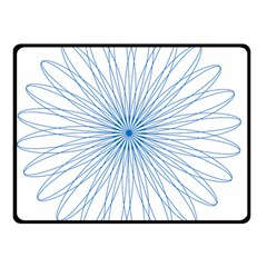 Spirograph Pattern Circle Design Double Sided Fleece Blanket (small)