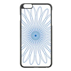 Spirograph Pattern Circle Design Apple Iphone 6 Plus/6s Plus Black Enamel Case
