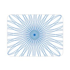 Spirograph Pattern Circle Design Double Sided Flano Blanket (mini)