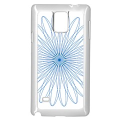 Spirograph Pattern Circle Design Samsung Galaxy Note 4 Case (White)