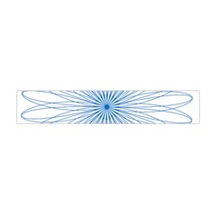 Spirograph Pattern Circle Design Flano Scarf (Mini)