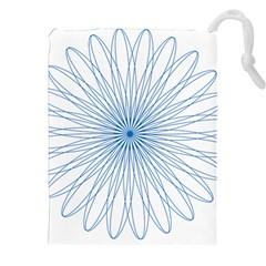 Spirograph Pattern Circle Design Drawstring Pouches (XXL)