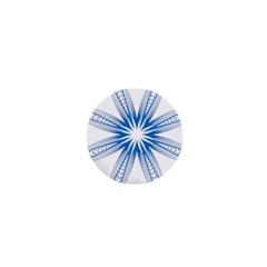 Blue Spirograph Pattern Circle Geometric 1  Mini Magnets