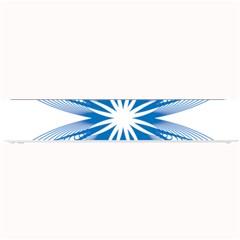 Blue Spirograph Pattern Circle Geometric Small Bar Mats