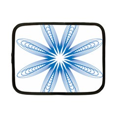 Blue Spirograph Pattern Circle Geometric Netbook Case (small)