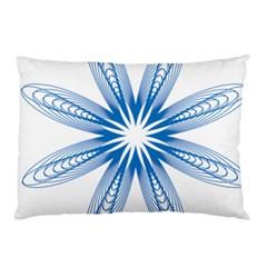 Blue Spirograph Pattern Circle Geometric Pillow Case