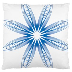 Blue Spirograph Pattern Circle Geometric Large Cushion Case (one Side)