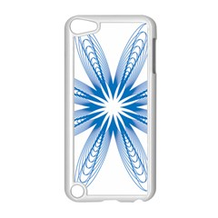 Blue Spirograph Pattern Circle Geometric Apple Ipod Touch 5 Case (white)