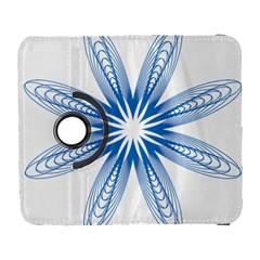 Blue Spirograph Pattern Circle Geometric Galaxy S3 (flip/folio)