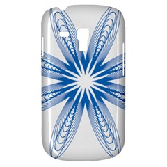 Blue Spirograph Pattern Circle Geometric Galaxy S3 Mini