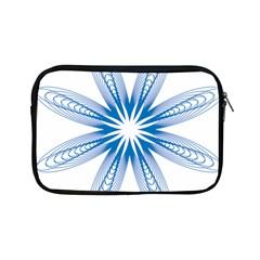 Blue Spirograph Pattern Circle Geometric Apple Ipad Mini Zipper Cases