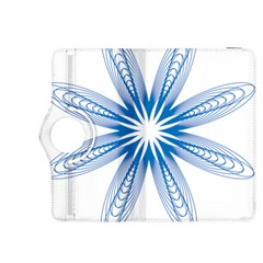 Blue Spirograph Pattern Circle Geometric Kindle Fire Hdx 8 9  Flip 360 Case