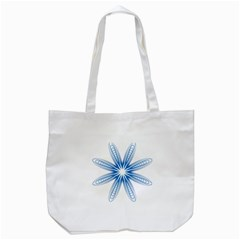 Blue Spirograph Pattern Circle Geometric Tote Bag (white)