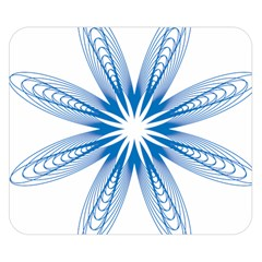 Blue Spirograph Pattern Circle Geometric Double Sided Flano Blanket (small)
