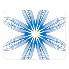 Blue Spirograph Pattern Circle Geometric Double Sided Flano Blanket (large)