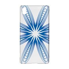 Blue Spirograph Pattern Circle Geometric Sony Xperia Z3+