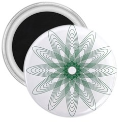 Spirograph Pattern Circle Design 3  Magnets