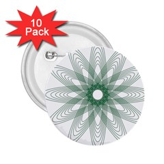 Spirograph Pattern Circle Design 2 25  Buttons (10 Pack)