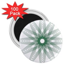 Spirograph Pattern Circle Design 2 25  Magnets (100 Pack)