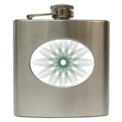 Spirograph Pattern Circle Design Hip Flask (6 oz)