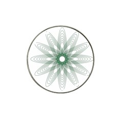 Spirograph Pattern Circle Design Hat Clip Ball Marker (10 Pack)