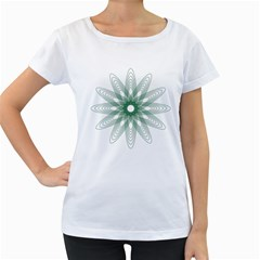 Spirograph Pattern Circle Design Women s Loose-Fit T-Shirt (White)