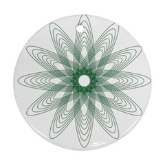 Spirograph Pattern Circle Design Round Ornament (two Sides)