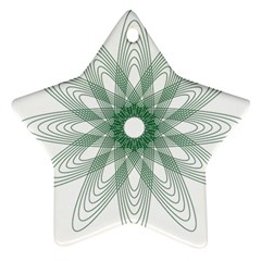 Spirograph Pattern Circle Design Star Ornament (Two Sides)