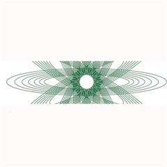 Spirograph Pattern Circle Design Large Bar Mats