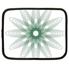 Spirograph Pattern Circle Design Netbook Case (large)