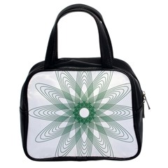 Spirograph Pattern Circle Design Classic Handbags (2 Sides)