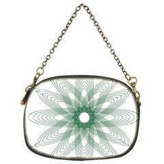Spirograph Pattern Circle Design Chain Purses (Two Sides)