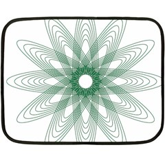 Spirograph Pattern Circle Design Double Sided Fleece Blanket (mini)