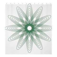 Spirograph Pattern Circle Design Shower Curtain 66  X 72  (large)