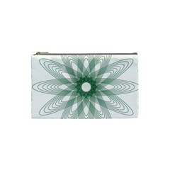 Spirograph Pattern Circle Design Cosmetic Bag (small)