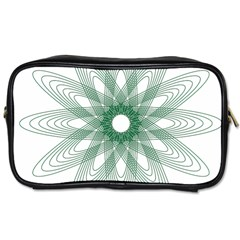 Spirograph Pattern Circle Design Toiletries Bags 2 Side