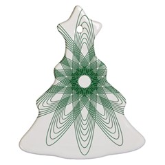 Spirograph Pattern Circle Design Christmas Tree Ornament (Two Sides)