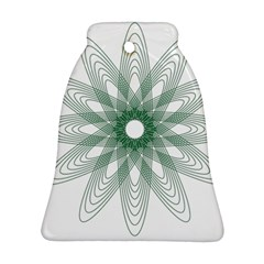 Spirograph Pattern Circle Design Bell Ornament (Two Sides)