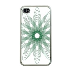 Spirograph Pattern Circle Design Apple Iphone 4 Case (clear)