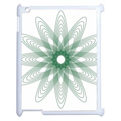Spirograph Pattern Circle Design Apple Ipad 2 Case (white)