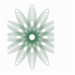 Spirograph Pattern Circle Design Small Garden Flag (two Sides)
