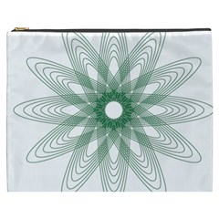 Spirograph Pattern Circle Design Cosmetic Bag (XXXL)