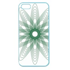 Spirograph Pattern Circle Design Apple Seamless Iphone 5 Case (color)