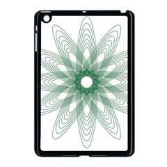 Spirograph Pattern Circle Design Apple Ipad Mini Case (black)