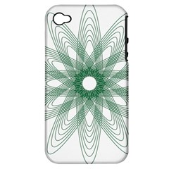 Spirograph Pattern Circle Design Apple Iphone 4/4s Hardshell Case (pc+silicone)