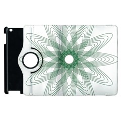 Spirograph Pattern Circle Design Apple Ipad 2 Flip 360 Case