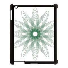 Spirograph Pattern Circle Design Apple Ipad 3/4 Case (black)