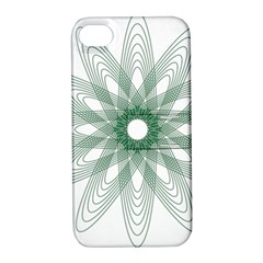 Spirograph Pattern Circle Design Apple Iphone 4/4s Hardshell Case With Stand